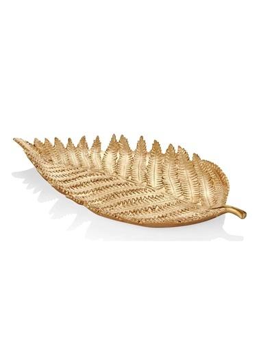 The Mia Yaprak Küçük (Askılı) Gold Altın